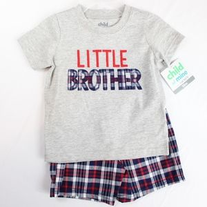 Little Brother 2 Piece Baby Boy Outfit 18 Months